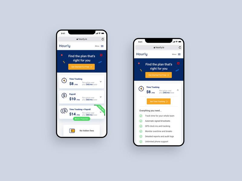 Responsive pricing design uidesign plans responsive website responsive design responsive iphone interface accordion cards design ux ui