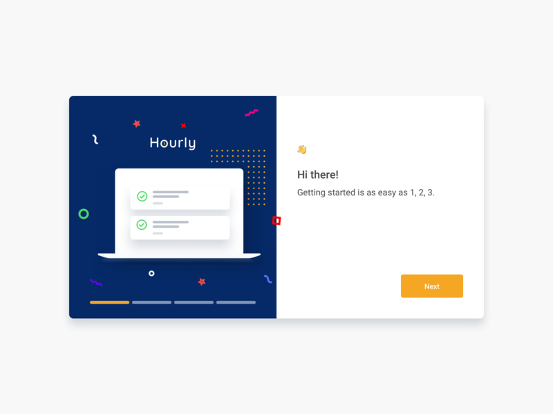Welcome Modal illustration design card modal box uidesign interface clean product design welcome screen welcome uiux ui illustration modal design modal