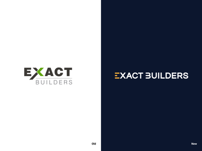 Exact Builders Logo Redesign revamp identity design vector branding logo redesign logo redesign