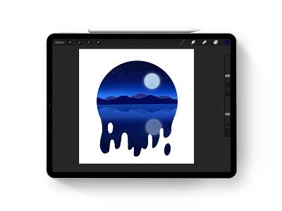 Illustration Landscape procreate art illustration ipadpro landscape procreateapp procreate