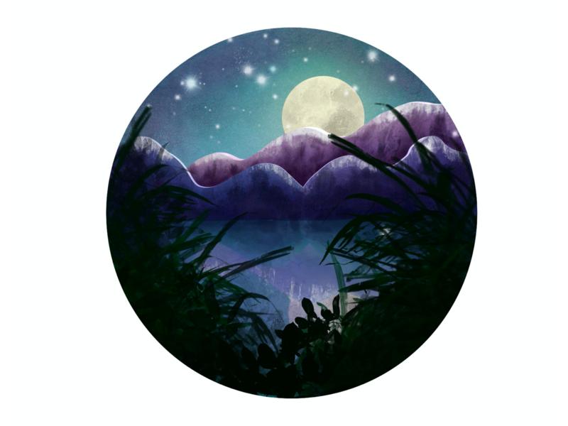 Lanscape Illustration procreate brushes procreate art landscape illustration landscape procreate illustration