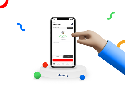 Hourly - Time Tracking app iosapp interface productdesign clean ui ui design hourlydesign hourly appdesign app uxui ui ux