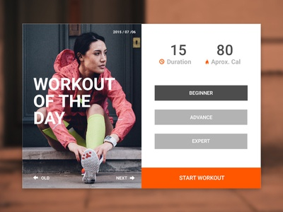 Fitness Card ui ux interface card workout clean sport running fit playoff rebound