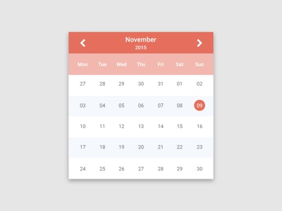Clean Calendar free download. free download cal clean minimal flat widget interface ux ui calendar