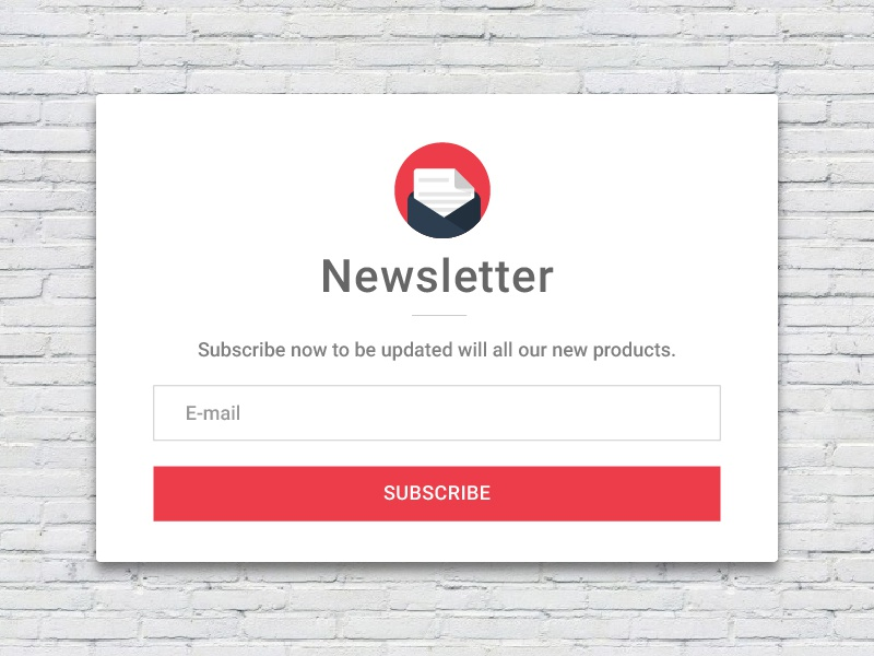 Newsletter subscription card