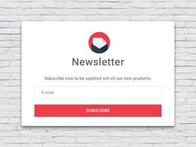 Newsletter Subscription Card challenge design minimal clean user experience user interface ux ui subscription newsletter
