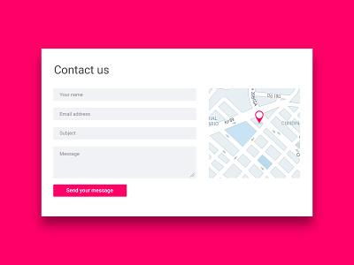 Contact Card design interface bogota location playoff clean minimal map card contact flat ux ui