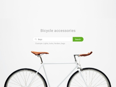 Search Header Accessories header search hero header bicycle accessories interface flat minimal ux ui