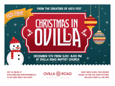 Christmas in Ovilla Illustration