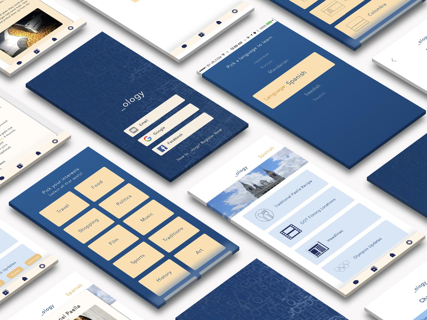 _ology App sketch app ios minimal icon flat web app vector ui ux typography