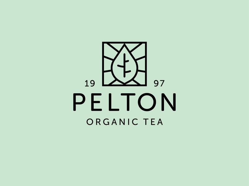 Pelton Organic Tea brand type daily graphic design beverage logo tea logo tea brand tea mint type indesign artwork design brand design logo design logo illustrator illustration branding typography adobe