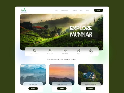 BOOK YOUR VACATION ! travel website book now landing page ui ux vacation trends new ui travel trip glass morphisam ui
