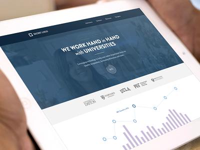 New Web Project focus lab web design website brand flat minimal stats graphs color palette