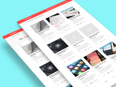 New Project website web design flat grid search focus lab