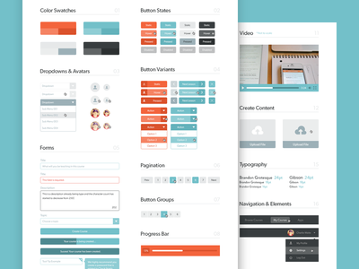 UI Guide ui guide stylesheet website elements colors buttons states organized focus lab