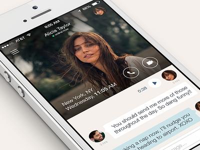 Couple App iOS 7 couple ios 7 chat app audio notes photos videos location to-do lists calendar