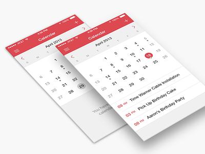 Calendar iOS 7 calendar ios 7 shared dates iphone app