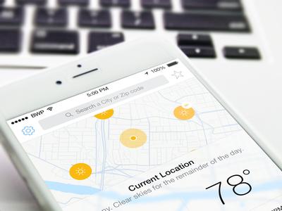 Sunshineº sunshine weather app ios ios 8 iphone 6 iphone 5 network technology