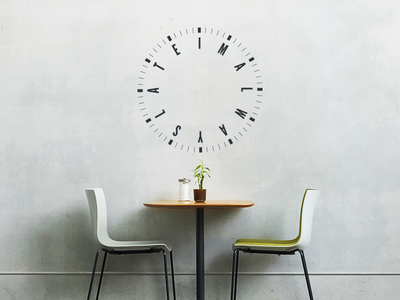 I'm Always Late Wall Decal always late decal wall print