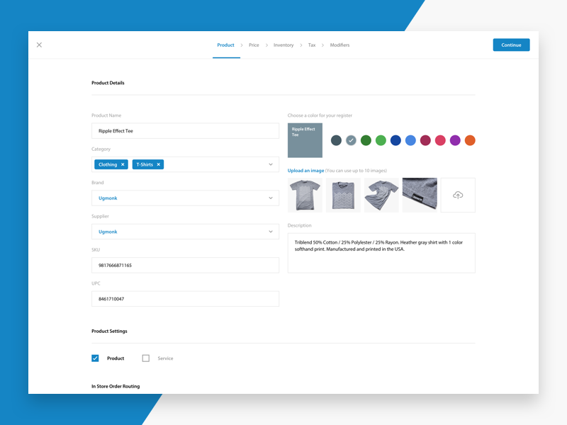 Create basic product