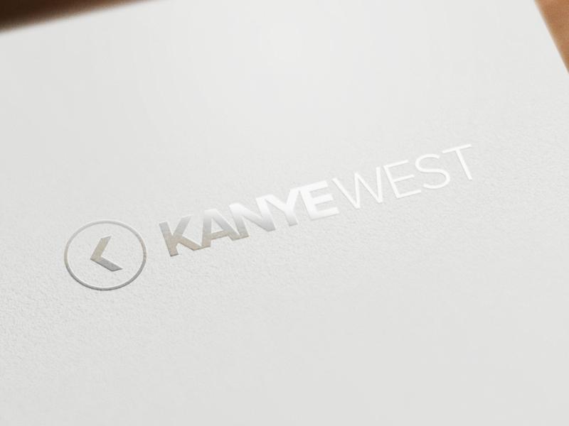 Kanye West Logo kanye west logo compass pointing left minimal simple arrow k kanye west