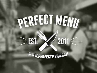Perfect Menu perfect menu branding logo restaurant food menu startup