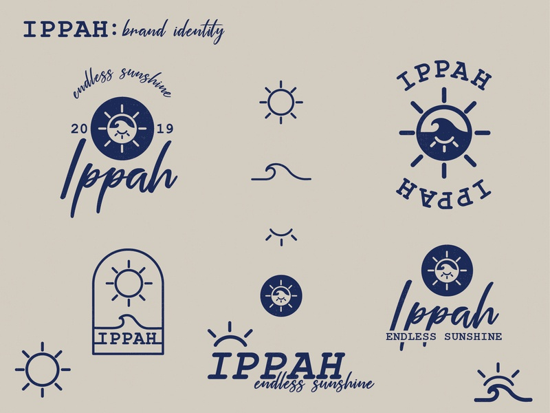 Ippah Brand Identity typography logo characterdesign character branding illustration design brand identity brand design brand