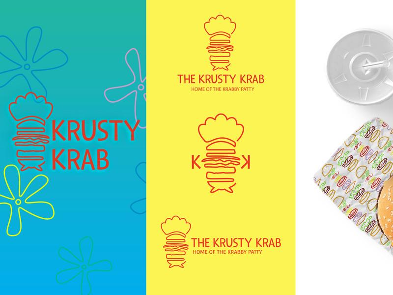 Krusty Krab Rebrand 1/5 food package design package spongebob redesign branding design