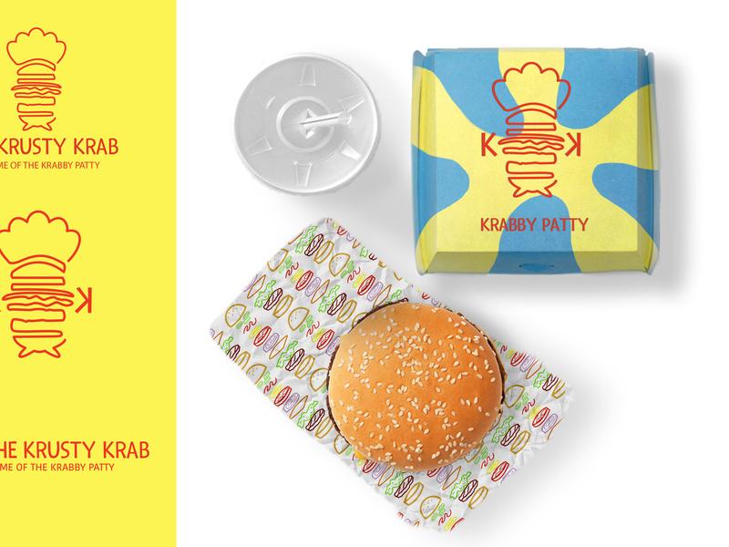 Krusty Krab Rebrand 2/5 brand design illustration branding design