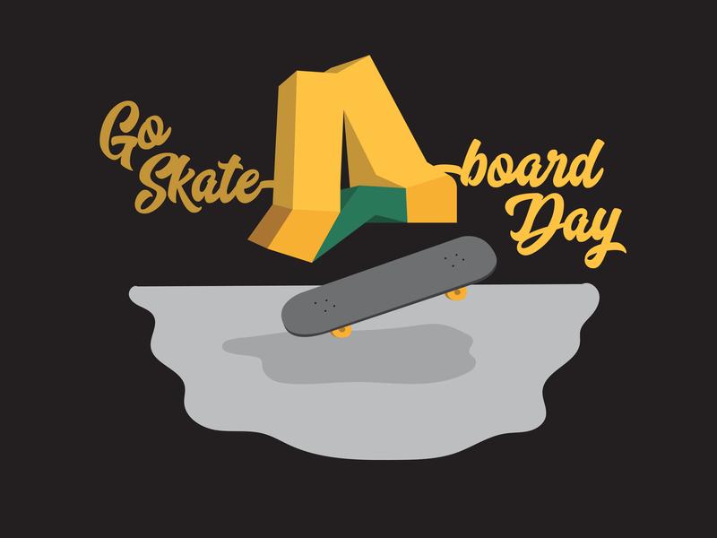 Go Skate Day Anchor Point skate skateboard typography logo illustration branding design