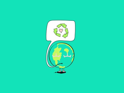 Earth Day Illustration recycle earthday icon characterdesign design character illustration
