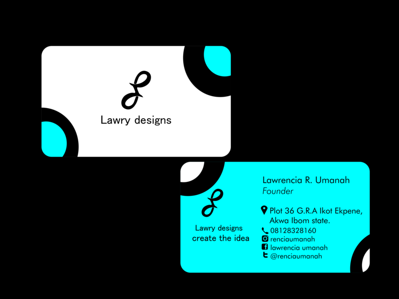 lawry design business card business card design