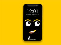 wallpaper ui- yellow dark theme