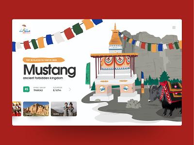 Visit Nepal 2020 - Website Design (Idea) visitnepal2020 webdesignnepal prabin landscape illustraion vector mustang nepal travel slider desktop design design interface webdesign website userexperience ux userinterface ui