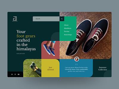 Dochaa - Website Design (Idea) slider nepal prabin interface box design colorful ecommerce shoes webdesign website ui design uidesign userexperience userinterface ui