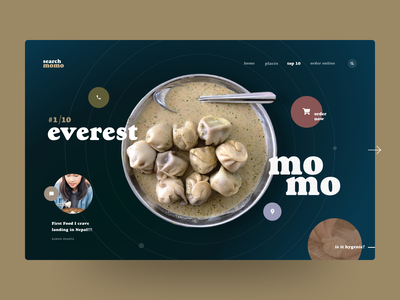 Search Momo - Website Design (Idea) prabin webdesignnepal colorful circle everest dumpling food momo nepal webdesigner webdesign website user experience ui user interface