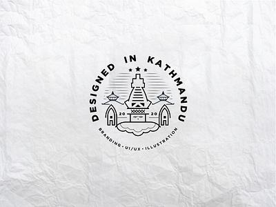 Designed In Kathmandu - Branding prabin kathmandu nepal stationery design logomark illustration badge logo brand identity brand design logo