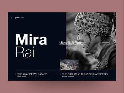 Mira Rai nepal ux website ui webdesign