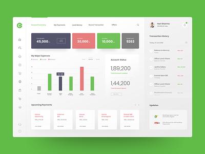 eSewa - Dashboard (Concept) prabin admin nepal dashboard webdesign website ux ui
