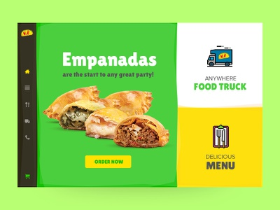 Kenny's Empanadas nepal prabin website fun webdesign colorful restaurant ux ui web