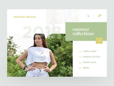 Klassique Kasuals nepal prabin ecommerce clothing fashion green slider website ux ui
