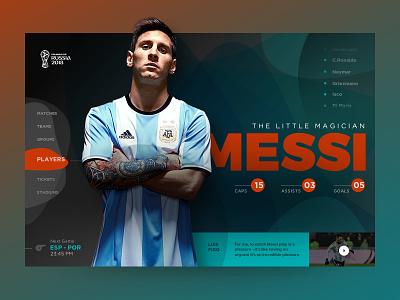 World Cup Russia 2018 webdesignnepal nepal prabin landingpage russia worldcup interface website ux ui