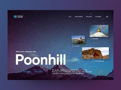 Mountain Story - Website Design photograph tourism desktop design nepal tour travel interface design uidesign ux design website