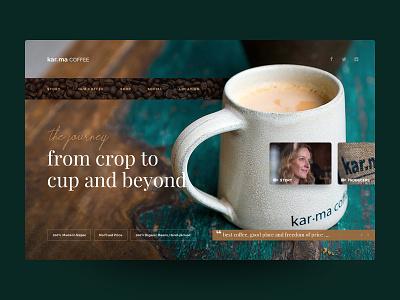 Karma Coffee Nepal - Website Design (Idea) nepali prabin tea nepal designer uiux uidesign coffee webdesign web website userinterface ui