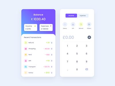 Budget App with Vue.js budgeting wallet banking ui budget app transaction money mobile design expense income budget sass javascript vue vuejs codepen app