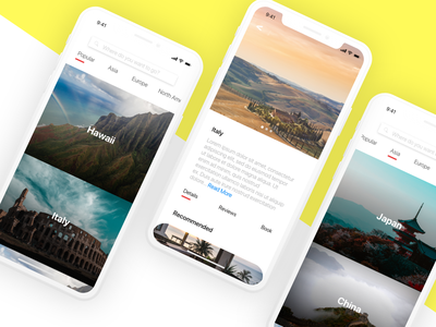 Travel mobile app dailychallenge dailyui ios ui mobile