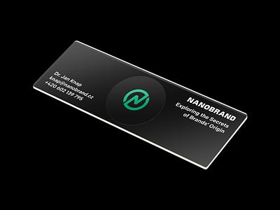 Business Card to Look Like a Microscope Slide lab card branding brand plexi glass microscope slide
