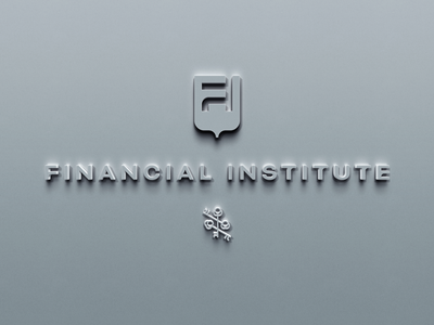 Wall Signage for Financial Institute institute concrete stone finance signage wall logo
