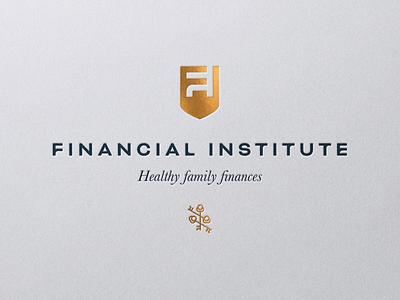 Logo for Financial Institute foil gold finance logo