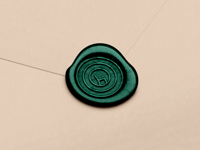 Seal of Chairmaker Sádlík tree rings minimal symbol logo envelope wood chairmaker chair seal